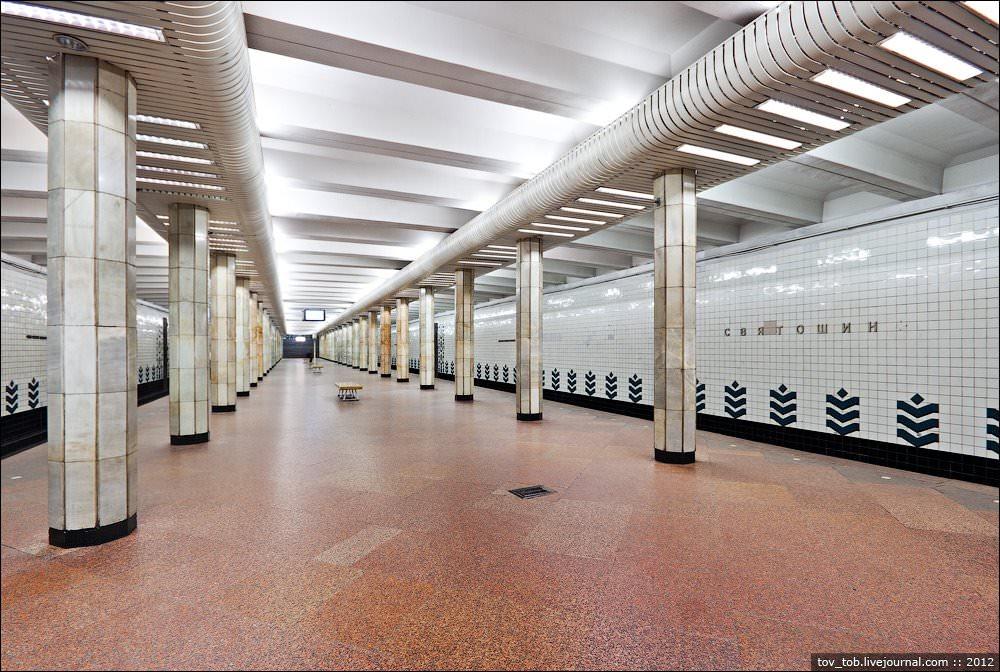 УКиївському метрополітені нагадали про закриття станції «Святошин» усуботу