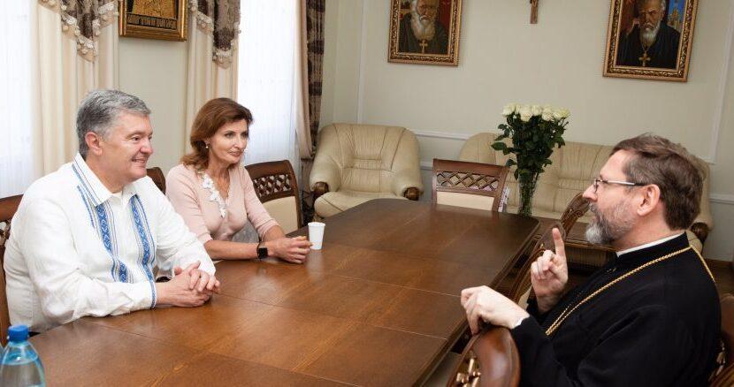 Обговорили міжконфесійний діалог та об'єднанню українського суспільства: Порошенко зустрівся з предстоятелем УГКЦ